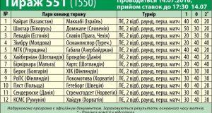 551 тираж лотереи СпортПрогноз