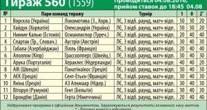560 тираж лотереи СпортПрогноз