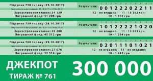 ДЖЕК-ПОТ 300 0000 грн
